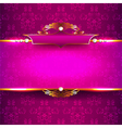 Luxury background with diamonds and ornaments vector image