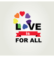 Poster Love is for all vector image