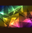 rainbow crystal abstract background vector image