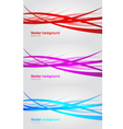 Set of wavy banners Abstract background vector image
