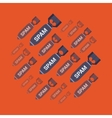 Spam bombs vector image