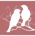 Two birds on a branch vector image