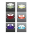 Colored glowing buttons vector image