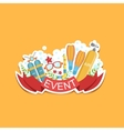Diving Event Template Label Cute Sticker vector image