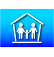 Family and home concept vector image vector image