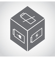 Cube with battery symbol vector image vector image