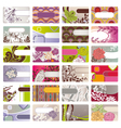 cute business card vector image