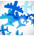 abstract background plane vector image