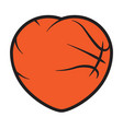 basketball love logo vector image