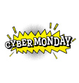 Cyber Monday in Pop Art Style vector image