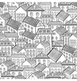 seamless pattern town houses vector image