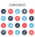 set of 20 editable family icons includes symbols vector image