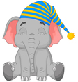 Sleeping Elephant in a cap vector image