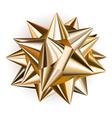 Big shiny bow vector image