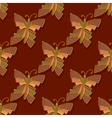 Seamless with butterfly over vector image