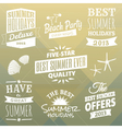 Vintage Summer Design Elements Collection vector image vector image