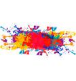 splatter color background design vector image