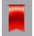 Red bookmark ribbon vector image