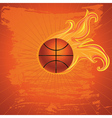 Fire Basketball Ball2 vector image