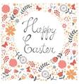 Elegant floral Easter card vector image