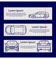 Web banners with car silhouettes vector image