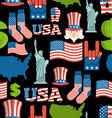 America symbols patriotic pattern USA national vector image