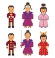 East Asia - Japan South Korea China Mongolia Man vector image