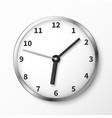 modern wall clock face vector image