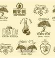 Oilve oil labels vector image