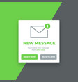 pop-up new message screen vector image