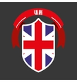 shield england vector image