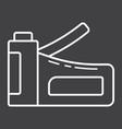 staple gun line icon build and repair stapler vector image