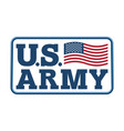 us army emblem flag of america armed forces of vector image