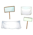 White boards and cloths vector image vector image