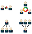 Business networking vector image