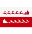Santa Claus in sleigh pulled by reindeer vector image