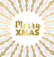 Merry Xmas gold mandala design in light colors vector image