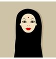 Arabic woman portrait for your design vector image vector image