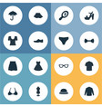 set of simple clothes icons vector image