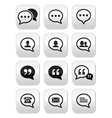 Speech bubble blog contact buttons set vector image vector image