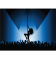 pole dancer with crowd vector image vector image