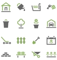 Icons house and garden vector image vector image