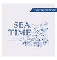 Nautical Beach Graphic Design - for t-shirt vector image