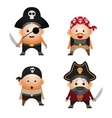 set of cartoon pirates vector image