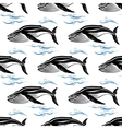 Big swimming cachalots seamless pattern vector image