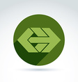 Abstract element with green arrow pointer vector image