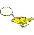 cartoon garden bird with thought bubble vector image