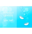 contact lenses ophthalmology vector image