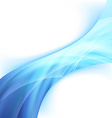 Bright glowing blue power wave abstract swoosh vector image
