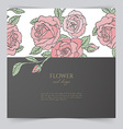 Card template with floral vector image